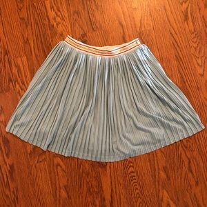 Johnnie B by Boden | Light Blue Pleated Skirt